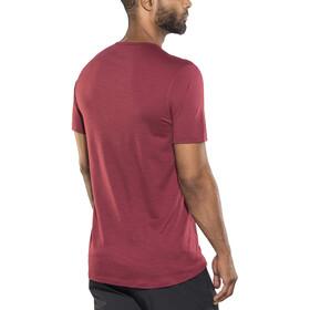 Icebreaker M's Zeal SS Crewe Shirt vintage red